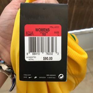 Nike Tops - Nike Women's Brazil Yellow Green Soccer Jersey NWT
